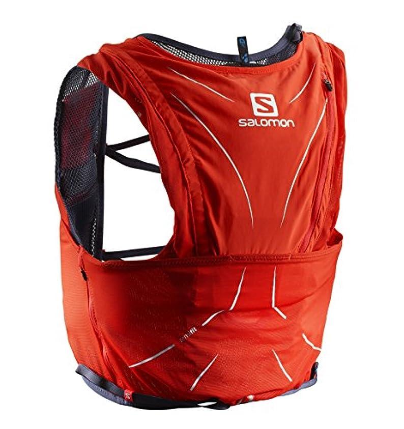 セッションくそー規制する[サロモン] ランニングハイドレーションバッグ ADV SKIN 12 SET FIERY RED/Graphite