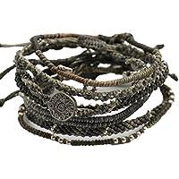 (ワカミ) wakami 7strands Bracelet ブレスレット ノーブルグレー WA-BC18003
