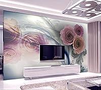Minyose 壁紙 壁の3Dのカスタム3D壁画壁紙黒と白のインク蓮蝶ホテルカフェの背景の壁紙