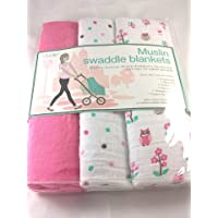 Lollypop Muslin Swaddle Blankets All Girl by Lollypop