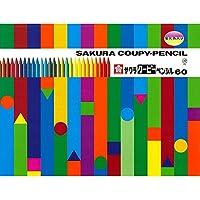 サクラクレパス 色鉛筆 クーピー 60色 オリジナルペンスタンド付き FY60-PS