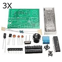 Prament 3枚 C51 4 ビット電子時計電子生産スイート DIY キット