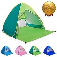 ワンタッチテント サンシェードテント BATTOP ポップアップビーチテント 2~3人用 95%UVカット 防水&通気 フルクローズ キャンプテント アウトドア コンパクト インスタントテント 収納バッグ付き