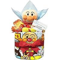 出産祝いにアンパンマンのおむつケーキ 男の子/赤ちゃん/内祝い/誕生日プレゼント/ギフトセット/ダイパーケーキ (パンパースM11 (1歳のお誕生日プレゼント用に))