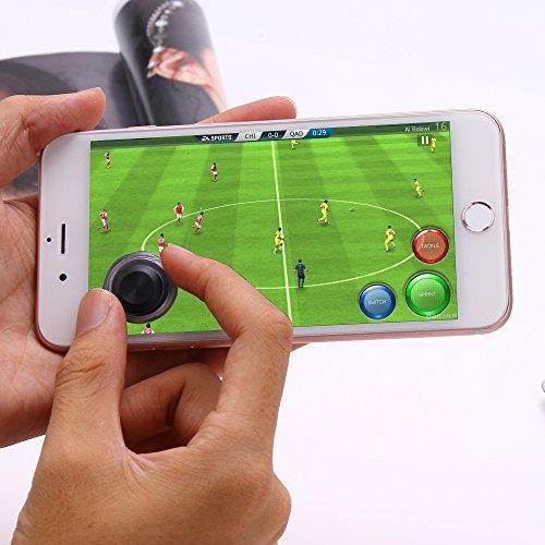 ATETION モバイルゲームジョイスティック 携帯ゲームのロッカー タッチスクリーン ジョイパッドのタブレット 面白いゲーム 携帯やパッドのコントローラ