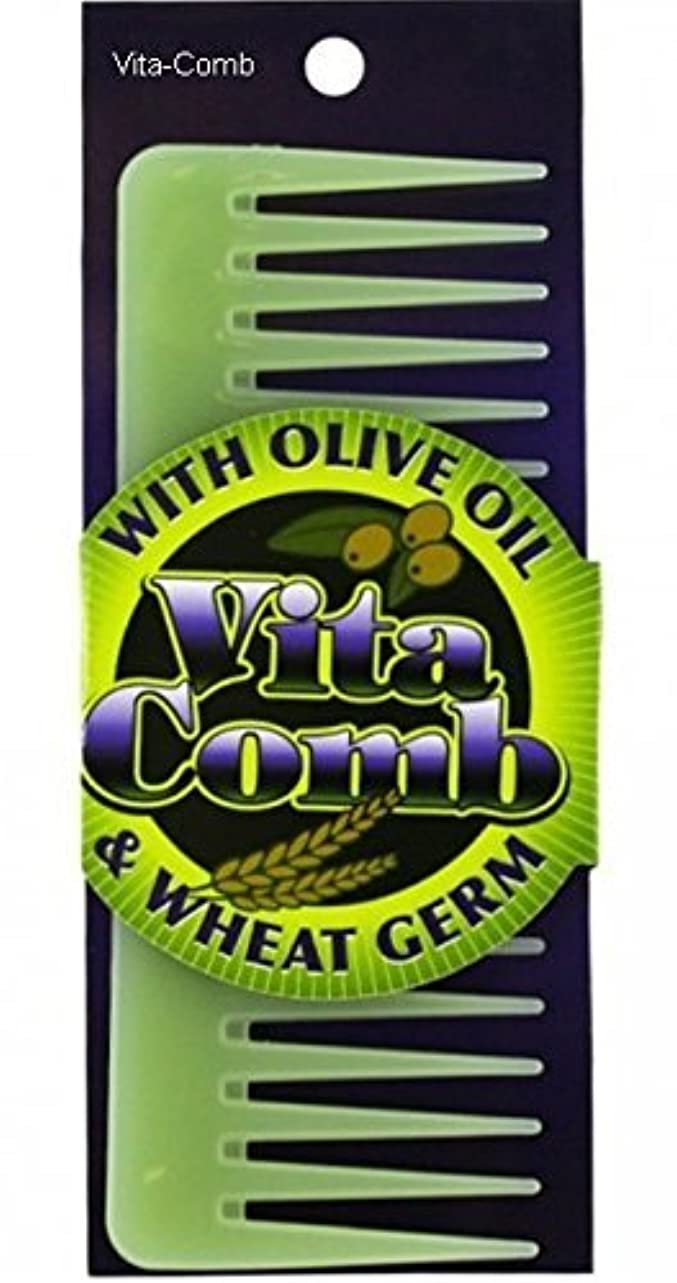 Vita Comb With Olive Oil and Wheat Germ Moisterizing Conditions Hair Detangling [並行輸入品]