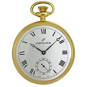 [アエロウォッチ]AEROWATCH 懐中時計 機械式手巻 オープンフェイス スモールセコンド 50794 J301 【正規輸入品】