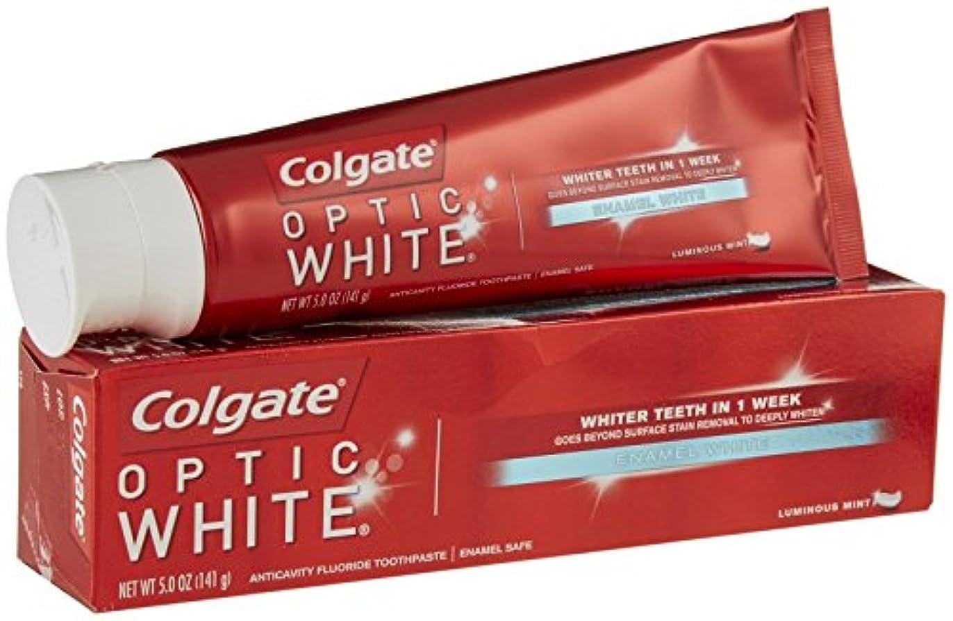 選択するうれしいフローティングColgate オプティックホワイトハミガキ - 5オンス - ルミナスミント