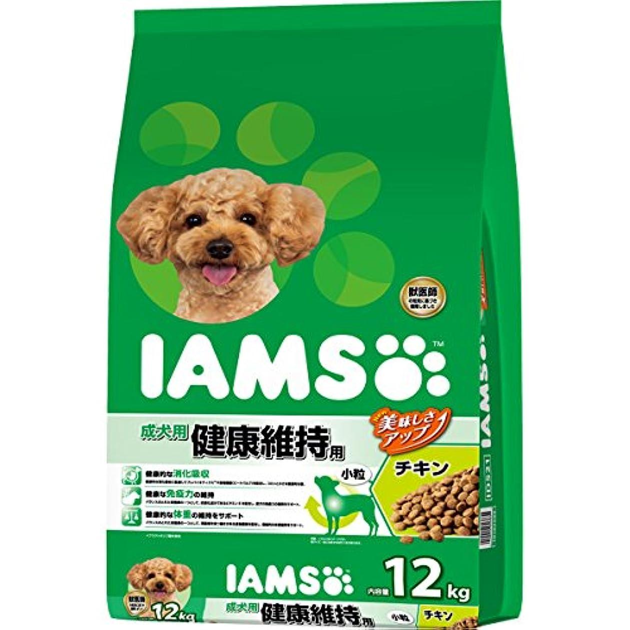 コロニー促進するリッチアイムス (IAMS) ドッグフード 成犬用 健康維持用 小粒 チキン 12kg