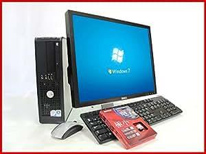 20インチモニター搭載中古パソコン  Windows7-Professional32Bit(DtoD) OptiPlex760SFF  高速Core2Duo-2.8GHz搭載 メモリ2GB HDD160GB DVD再生 新品無線LANアダブタ付属  30日無料保証付