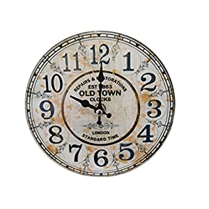 パール金属 卓上 ガラス 時計 置時計 掛け時計 兼用 ROUND 17cm 12SV319 N-8191