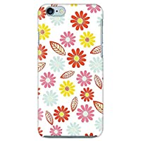 iPhone6/iPhone6s バンパーハードケース フラワー 花柄 055 完全受注生産(マット仕上バンパー付)