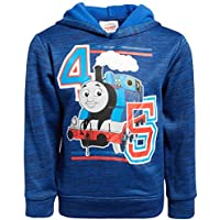 Nickelodeon Boy's Fleece Pullover Hoodie with Thomas The Train Theme Graphics (Toddler/Little Kid), Royal, Size 2T'