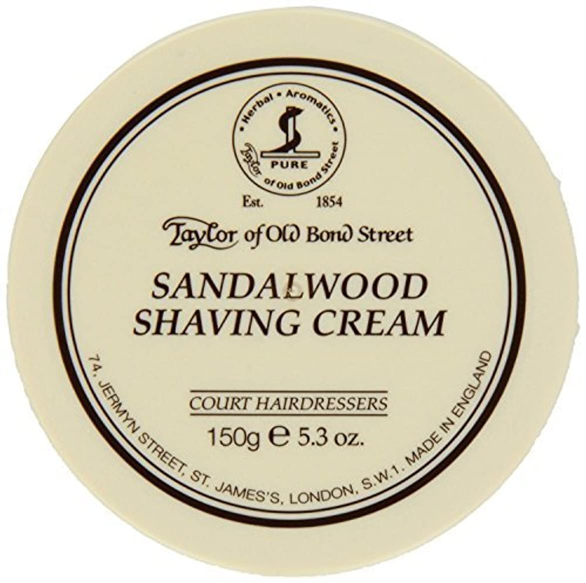 各先にフォアタイプTaylor of Old Bond Street SHAVING CREAM for SANDALWOOD 150g x 2 Bowls by Taylor of Old Bond Street [並行輸入品]