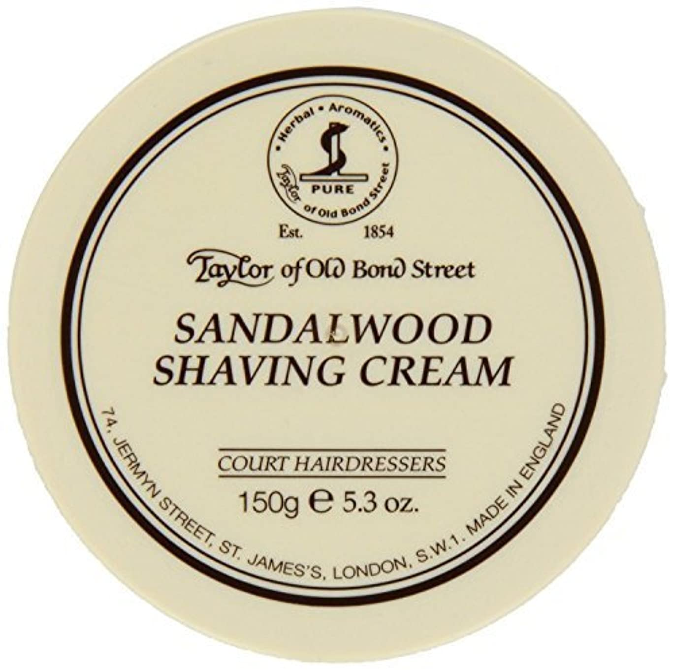 読書をする貢献お客様Taylor of Old Bond Street SHAVING CREAM for SANDALWOOD 150g x 2 Bowls by Taylor of Old Bond Street [並行輸入品]