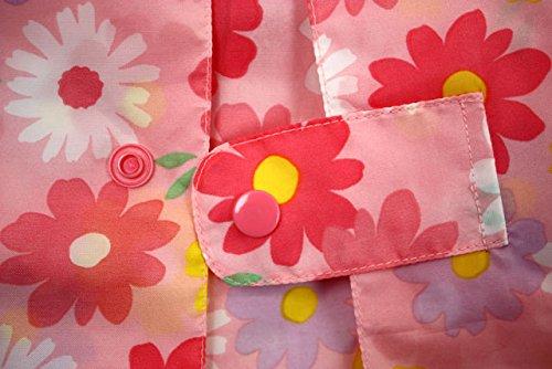 【子供服】 Kids Foret (キッズフォーレ) お花・電車柄総柄レインコート S~L B81852