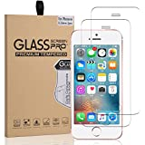 iPhone SE, 5, 5S, Screen Protector Glass, Arae Tempered Glass [2.5D Edge] Screen Protector [Case Friendly] for Apple iPhone 5, 5s, SE (2-Pack)