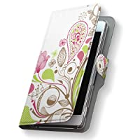 Xperia Z5 SOV32 ケース カバー 手帳型 スマコレ レザー 手帳タイプ 革 SOV32 スマホケース スマホカバー Xperia Z5 エクスペリア フラワー 001304 Sony ソニー au エーユー 花 カラフル sov32-001304-nb