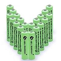 Geilienergy 1.2V AAAニッケル水素600mAh充電式バッテリー、ソーラーライトRC/ACリモート