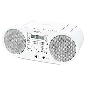 ソニー CD対応ラジオ(ホワイト)SONY ZS-S40-W