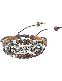 Ancient Tribe Women's Hemp Leather Beads Beaded Bracelet