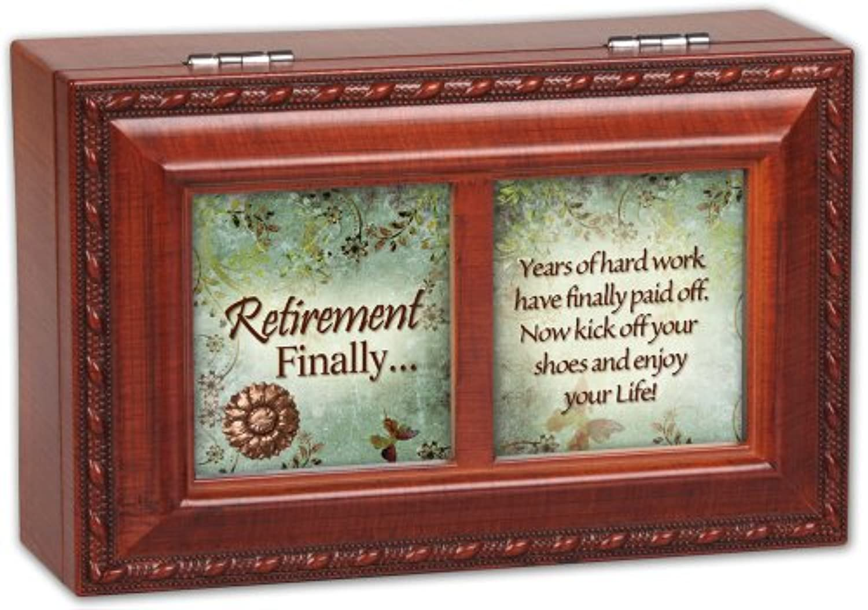 [コテージ ガーデン]Cottage Garden Retirement Finally Woodgrain Petite Music Box / Jewelry Box Plays Wonderful World PM5584 [並行輸入品]
