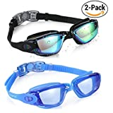 Aegend Swim Goggles, Swimming Goggles No Leaking Anti Fog UV Protection Triathlon Swim Goggles with Free Protection Case for Adult Men Women Youth