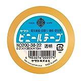 ヤマト ビニールテープ 38mm幅 5巻 NO200-38-22-5PR 透明