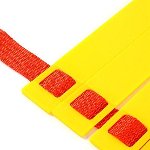 JX-SHOPPU トレーニングラダー 5m プレート9枚 敏捷性 アップ サッカー フットサル イエロー (5m 9枚) レッドタイプ