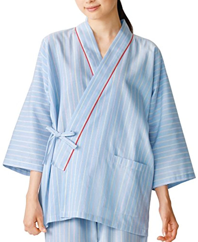 涙測定可能味わう医療/介護施設用  患者衣上衣(甚平型) KAZEN  サイズ:3L 285-98