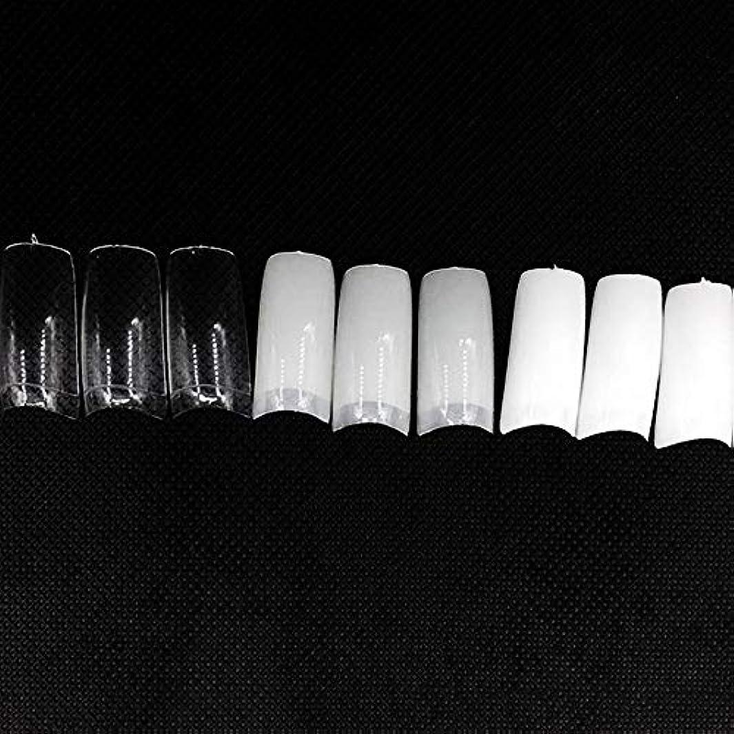 大宇宙下位噴水ネイルチップ つけ爪 偽爪 無地 ロング オーバル 10サイズ デコレーション フルチップ シンプル DIY デザイン 500個/セット Moomai