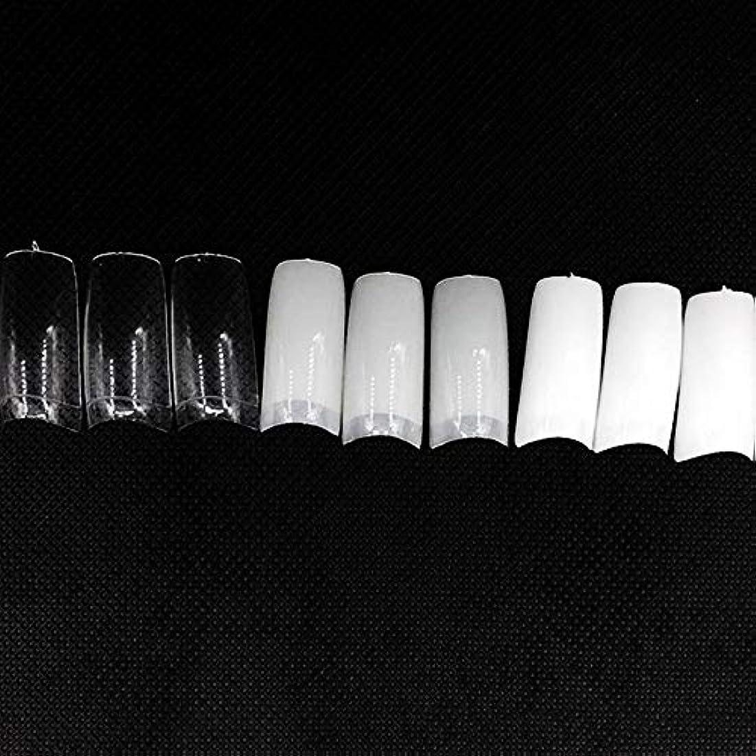 仮装つば悲観主義者ネイルチップ つけ爪 偽爪 無地 ロング オーバル 10サイズ デコレーション フルチップ シンプル DIY デザイン 500個/セット Moomai