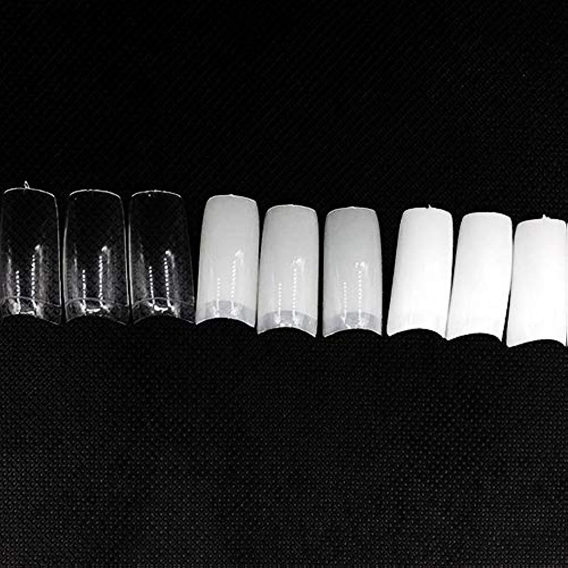 上昇群衆雷雨ネイルチップ つけ爪 偽爪 無地 ロング オーバル 10サイズ デコレーション フルチップ シンプル DIY デザイン 500個/セット Moomai