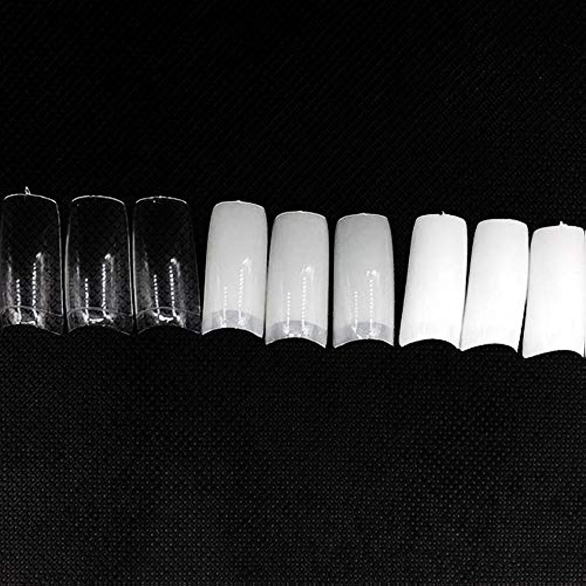 違うりんご通訳ネイルチップ つけ爪 偽爪 無地 ロング オーバル 10サイズ デコレーション フルチップ シンプル DIY デザイン 500個/セット Moomai