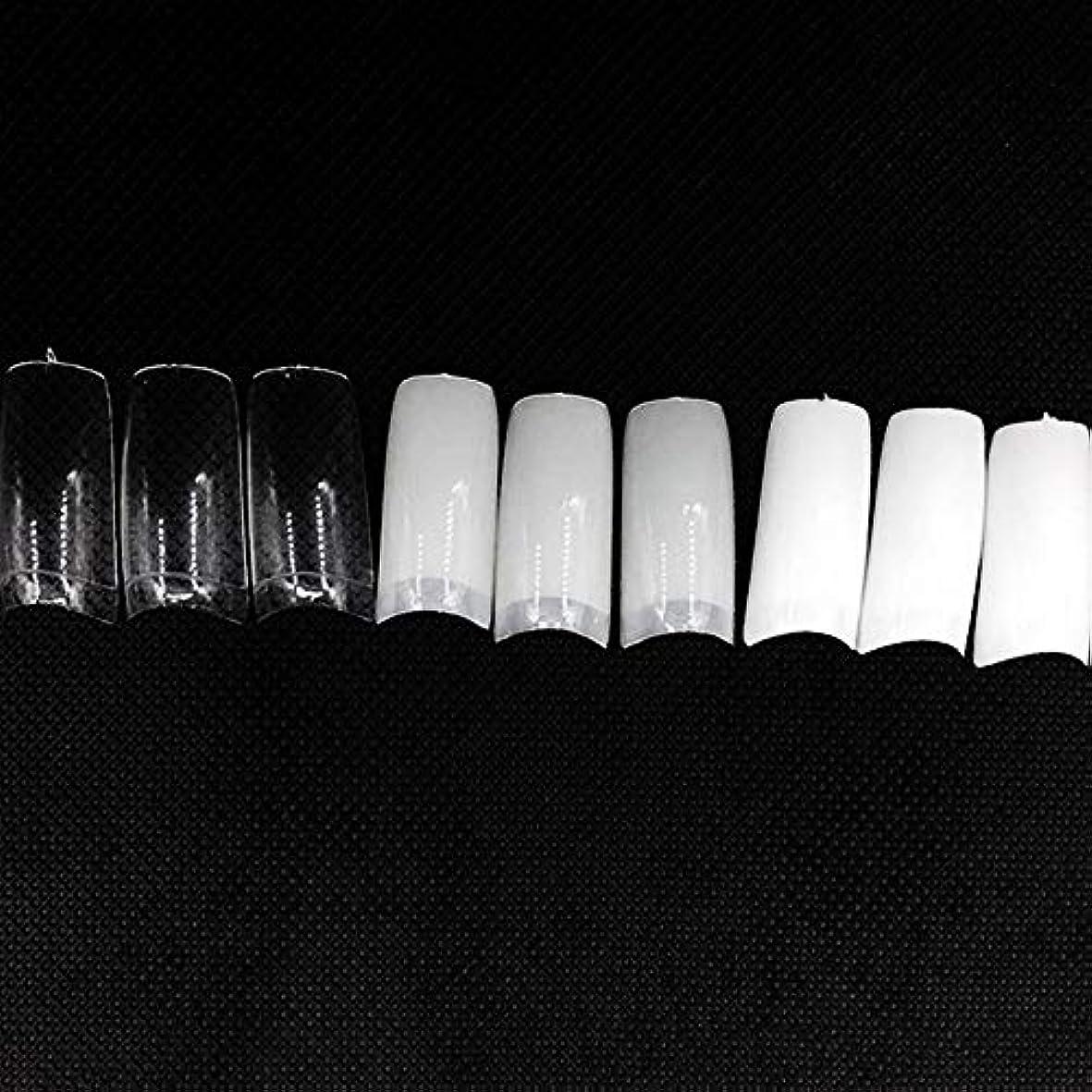 嵐の故障中びっくりしたネイルチップ つけ爪 偽爪 無地 ロング オーバル 10サイズ デコレーション フルチップ シンプル DIY デザイン 500個/セット Moomai