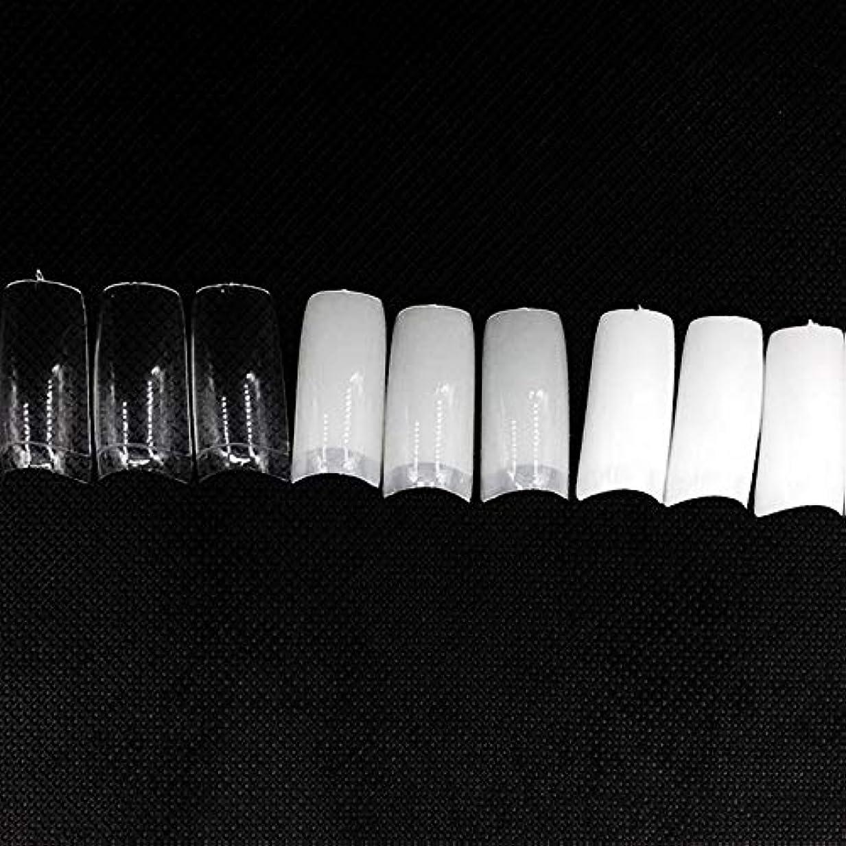 楽な新年あたりネイルチップ つけ爪 偽爪 無地 ロング オーバル 10サイズ デコレーション フルチップ シンプル DIY デザイン 500個/セット Moomai