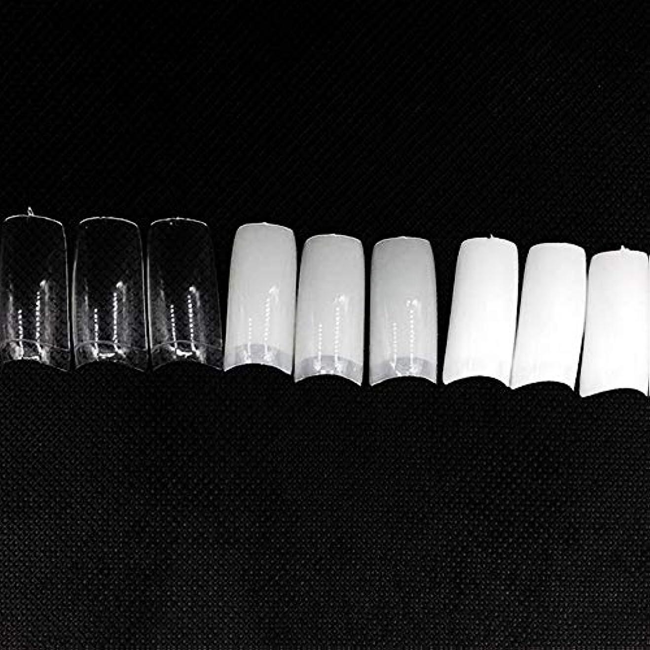 ブーストアラーム薄いですネイルチップ つけ爪 偽爪 無地 ロング オーバル 10サイズ デコレーション フルチップ シンプル DIY デザイン 500個/セット Moomai