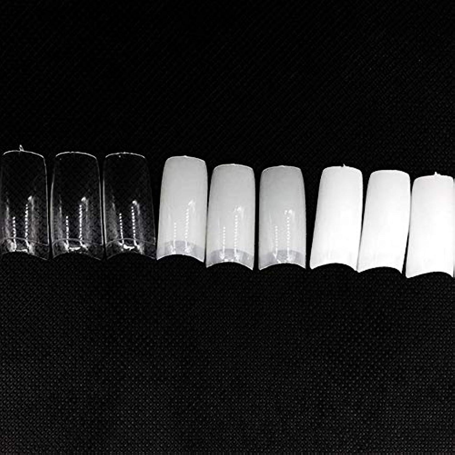 カニ頼む人類ネイルチップ つけ爪 偽爪 無地 ロング オーバル 10サイズ デコレーション フルチップ シンプル DIY デザイン 500個/セット Moomai