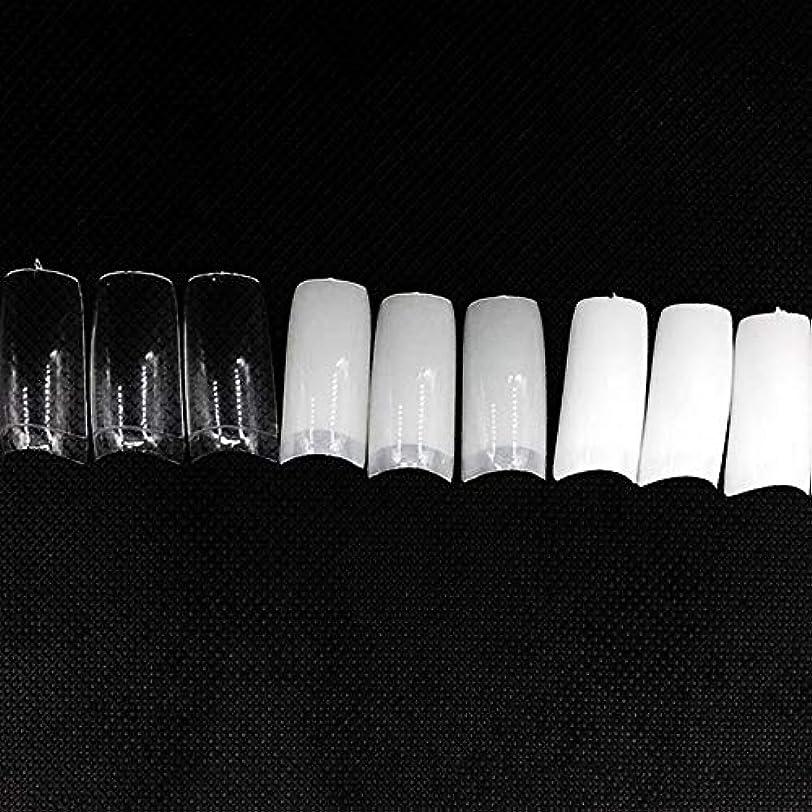 団結する最初雪のネイルチップ つけ爪 偽爪 無地 ロング オーバル 10サイズ デコレーション フルチップ シンプル DIY デザイン 500個/セット Moomai