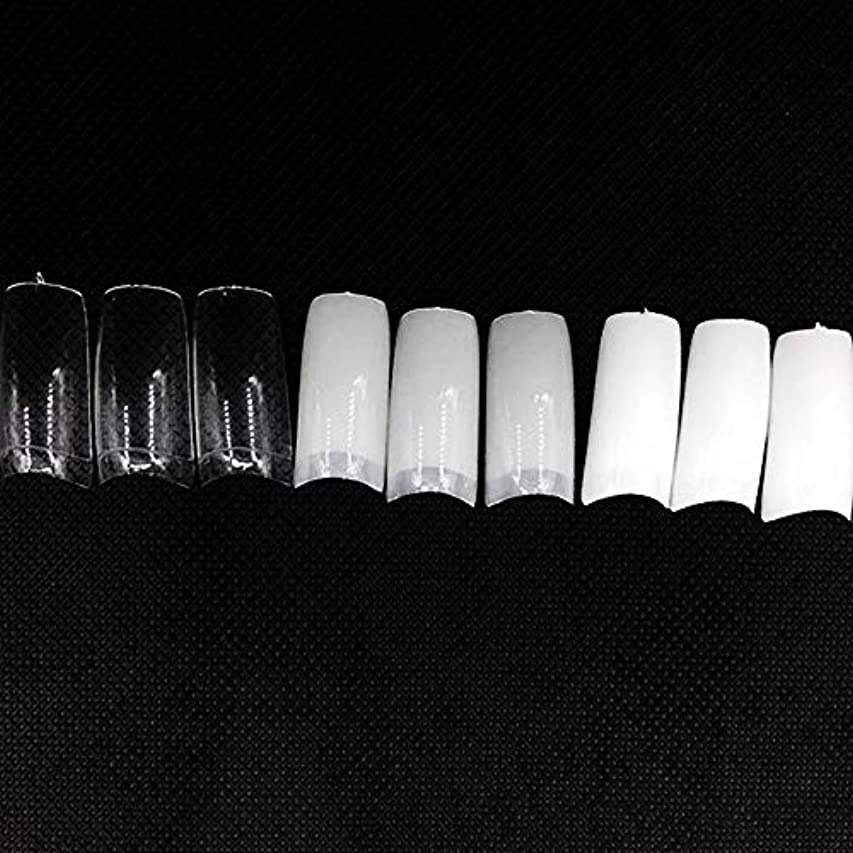 差し控えるブース続けるネイルチップ つけ爪 偽爪 無地 ロング オーバル 10サイズ デコレーション フルチップ シンプル DIY デザイン 500個/セット Moomai