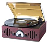 ION Audio レトロ調 ミュジックプレーヤー 3種再生 【レコード、ラジオ、外部入力】 Trio LP