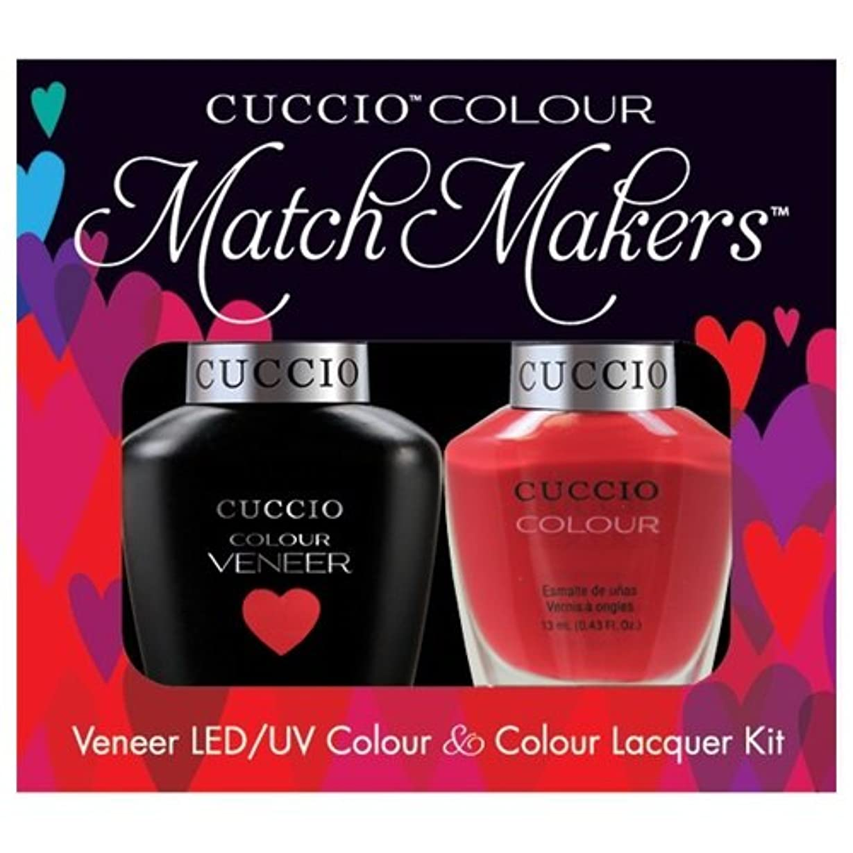 堤防無数の衣服Cuccio MatchMakers Veneer & Lacquer - A Pisa My Heart - 0.43oz / 13ml Each