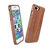 ウッドアイフォン6plus/6splus保護ケース iPhone 6plus/6splusケース 木製保護カバー 天然木採用  おしゃれ 人気ウッド製携帯カバー (5.5インチ ウォルナット制)