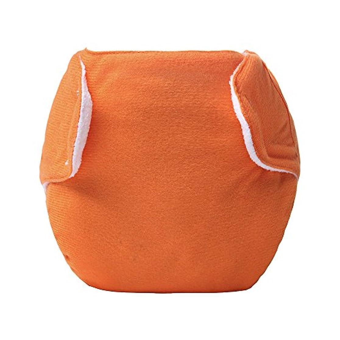 洗濯可能なフック&ループ リークプルーフメッシュベビーおむつ 布のおむつ オレンジ