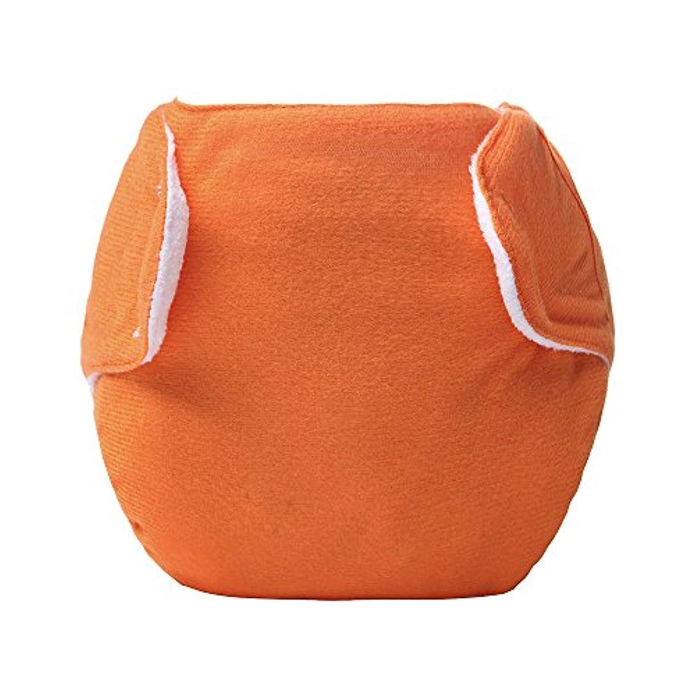 克服する延期する節約する洗濯可能なフック&ループ リークプルーフメッシュベビーおむつ 布のおむつ オレンジ