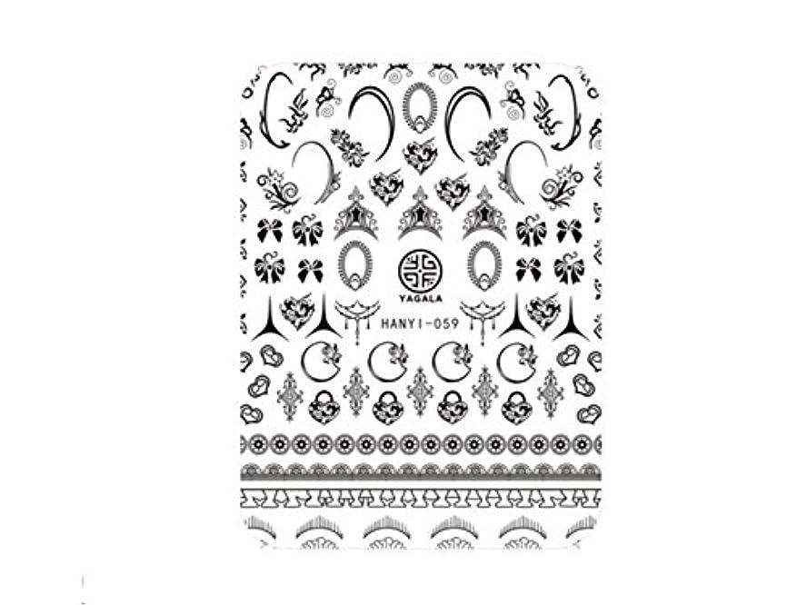 修道院補体表現Osize ファッションカラフルな花ネイルアートステッカー水転送ネイルステッカーネイルアクセサリー(示されているように)