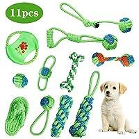 Maimaiti 犬 おもちゃ 噛むおもちゃ ペット用 ロープおもちゃ 11個セット 犬用玩具 ペット おもちゃ ストレス解消 運動不足解消 清潔 歯磨き 丈夫 耐久性 小型犬・中型犬に適応
