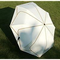 日傘 桜Beauty life 折りたたみ傘 超軽量 遮热 99% UVカット UPF50+紫外線対策 完全遮光 頑丈な8本骨 抗強風 晴雨兼用 おしゃれなレディース&メンズ用傘 高密度なポンジー布生地と高品質UVカットコーティングで加工して 梅雨対策 持ち運び便利 折り畳み傘(3段式ホワイト傘)