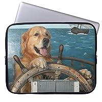 UDDESIGNゴールデン・リトリーバーの帆船 13.3インチ PCインナーバッグ 防水 マックブックケース ラップトップ ノートパソコン