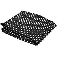 Bacati - Pin Dots White/black Crib Fitted Sheet by Bacati